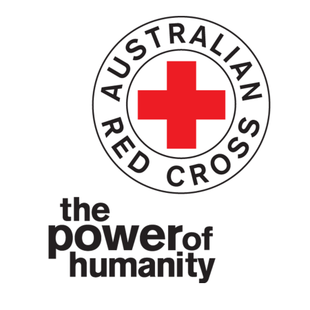 Australian Red Cross logo and words 'the power of humanity'