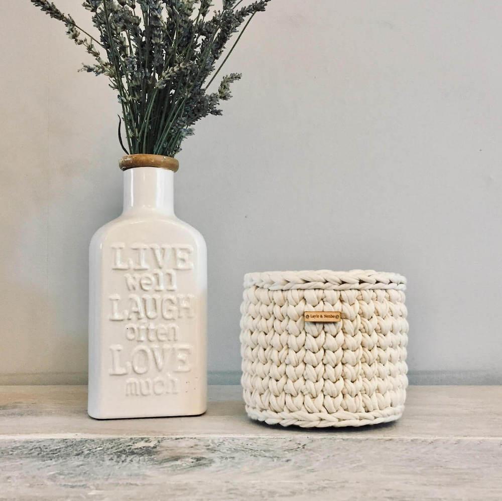 cream wicker basket from Wearth