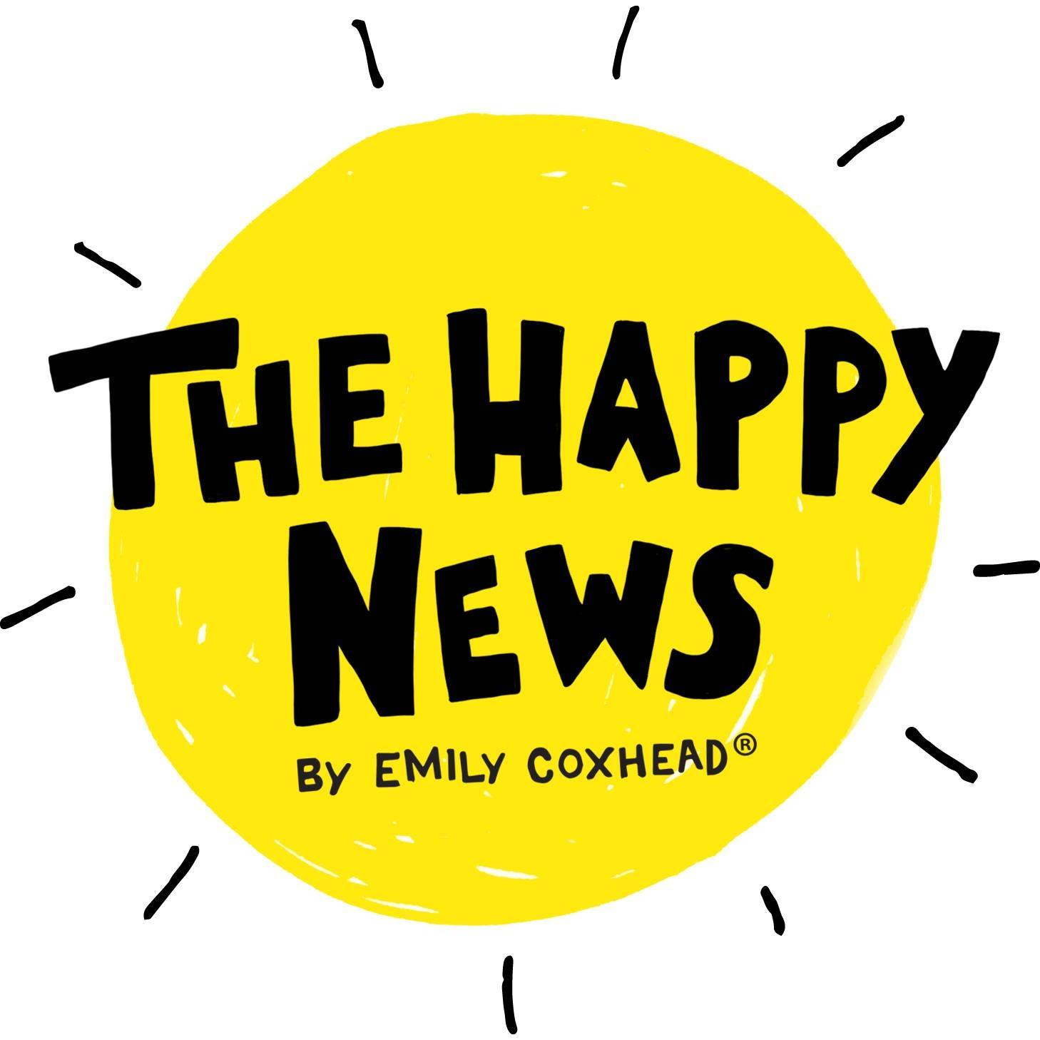 logo of The Happy News by Emily Coxhead