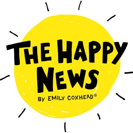 logo for The Happy News by Emily Coxhead